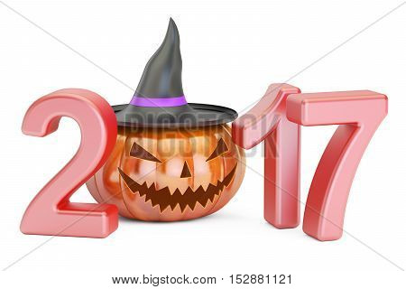 Halloween 2017 concept 3D rendering isolated on white background