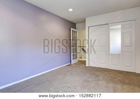 Pale Purple Interior Of Empty Room