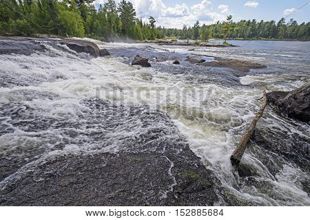 Baldrock Falls in the Wilds of Quetico Provincial Park in Ontario