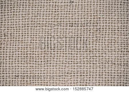 Macro flat view of woven undyed wool surface