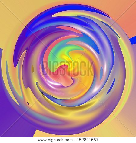 Abstract coloring background of the pastels gradient with visual lighting,wave,shear and poolar coordinates effects