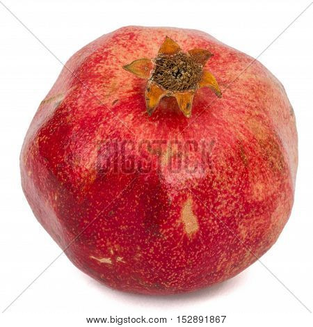 Ripe pomegranate isolated on a white background