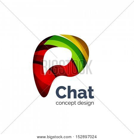 Unusual abstract business logo template - chat cloud