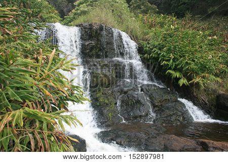 Waipo'O Falls, Waimea Canyon, Kauai Island, Hawaii