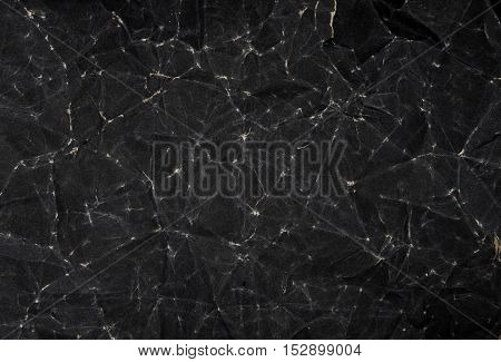 Black Paper Texture, Crumpled Paper Texture Background