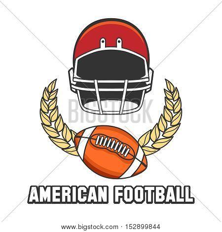 American football logo emblem isolated on white background. Vector illustration