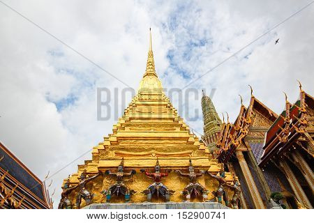 architecture stupa of the Temple in Thailand