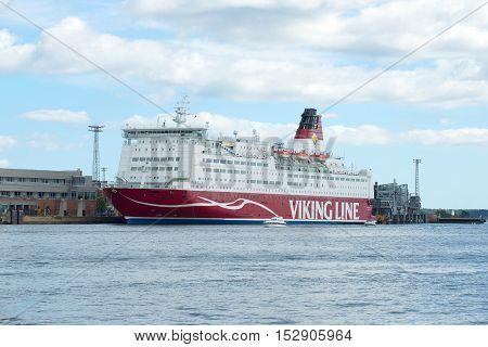 HELSINKI, FINLAND - AUGUST 28, 2016: Sea ferry