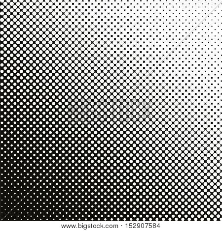 Gradient Background With Dots Halftone Dots Design Light Effect Seamless Pattern Vector Isolated Obj