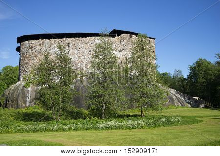 View of the old fortress in Raseborg, sunny june day. Finland