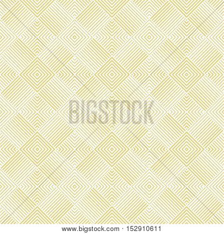 Seamless pattern. Art deco background. Simple elegant texture with thin lines. Regularly repeating geometrical tiles with rhombuses lines. Vector element of graphical design