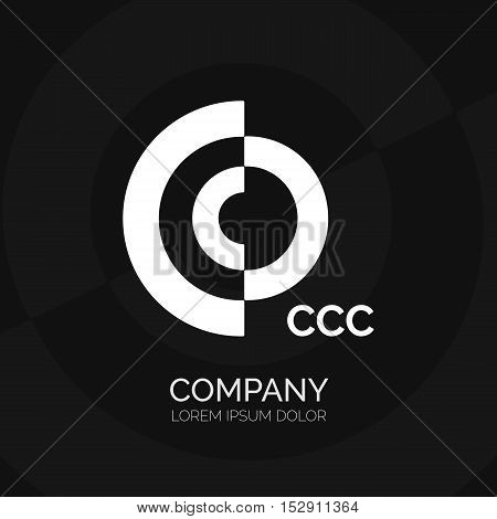 Creative C letter vector logo design. Vector sign. Character logotype symbols. Logo icon design for website