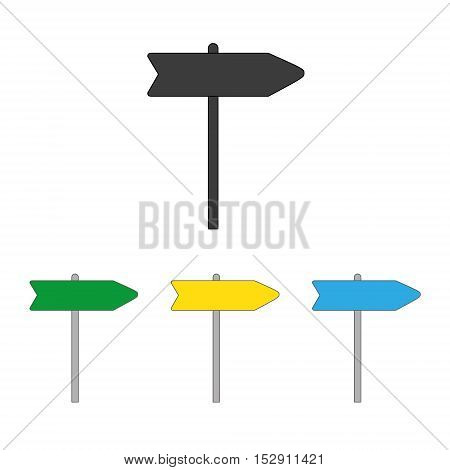 Signpost icon isolated on a white background