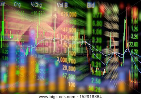 Stock exchange graph background, For abstract background.