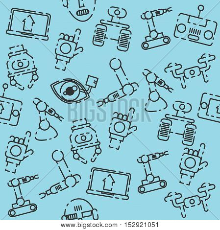 Robotic set pattern. Vector illustration EPS 10