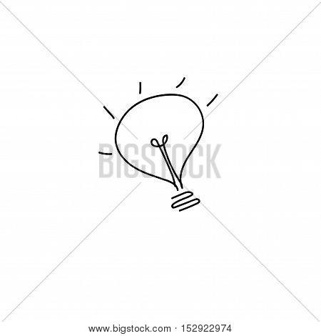 lamp icon hand drawn lamp icon hand drawn