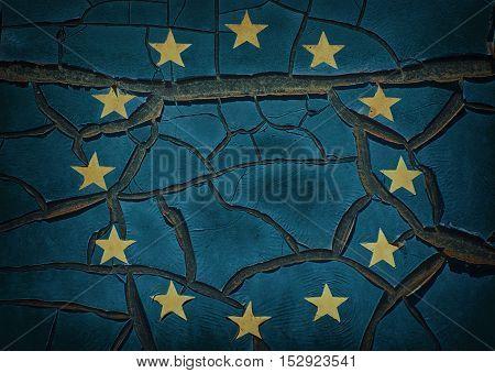 Image of Cracked Emblem of the European Union