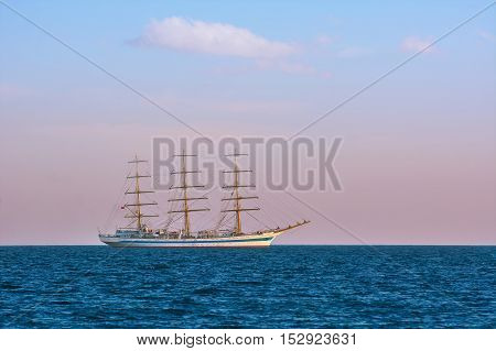 Image of Sailing Ship in the Sea