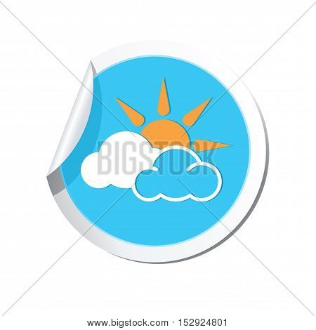 Weather forecast icon on the round sticker