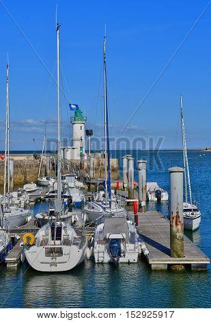 La Flotte France - september 25 2016 : boats in the picturesque port