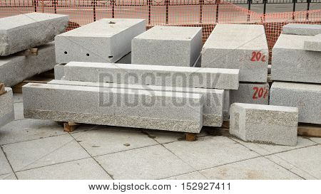 Building material granite is suitable for construction of the pavement.