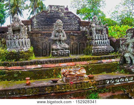 The traditional temple in Batuan Bali at Iindonesia