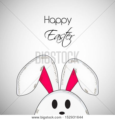 Illustration of bunny isolated on white background for Easter