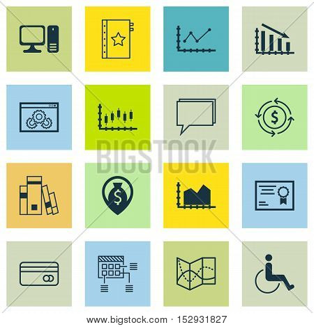 Set Of 16 Universal Editable Icons For Computer Hardware, Human Resources And Project Management Top