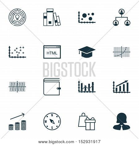 Set Of 16 Universal Editable Icons For Traveling, Transportation And School Topics. Includes Icons S