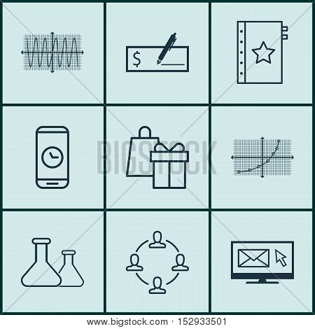 Set Of 9 Universal Editable Icons For Statistics, Transportation And Education Topics. Includes Icon