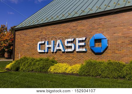 Indianapolis, IN - Circa October 2016: Chase Bank. Chase is the U.S. Consumer and Commercial Banking Business of JPMorgan Chase