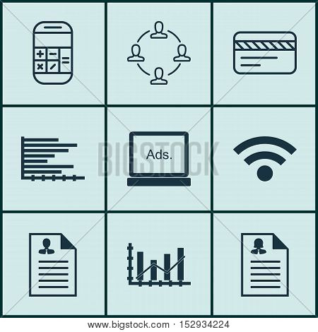Set Of 9 Universal Editable Icons For Advertising, Project Management And Hr Topics. Includes Icons