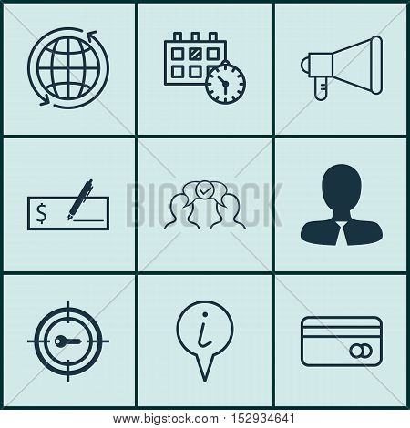 Set Of 9 Universal Editable Icons For Seo, Human Resources And Project Management Topics. Includes I