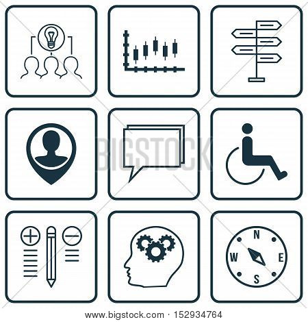 Set Of 9 Universal Editable Icons For Traveling, Seo And Business Management Topics. Includes Icons