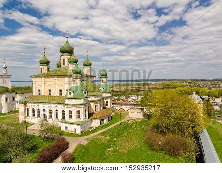 Panoramic view of the Goritsky Monastery of Dormition is a Russian Orthodox monastery in Pereslavl-Zalessky Russia. Golden Ring of Russia.
