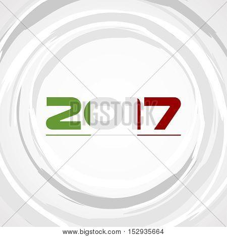 Sfondo Anno nuovo con colori della bandiera Italiana - 2017