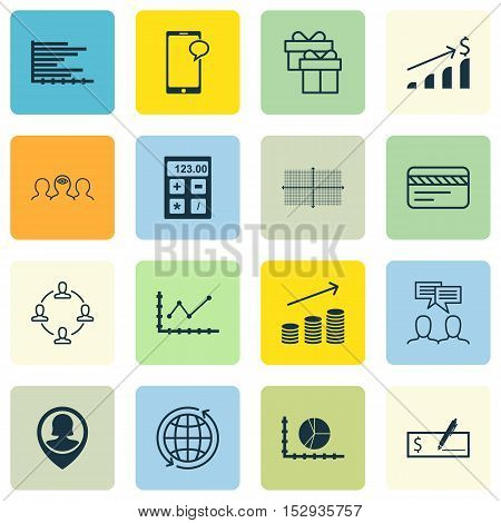 Set Of 16 Universal Editable Icons For Business Management, Management And School Topics. Includes I