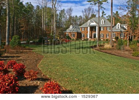 Large Upper Class Brick Home