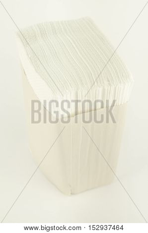 Paper napkins. Stand. Vertical photoPaper napkins,white background