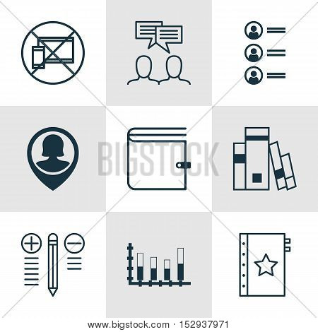 Set Of 9 Universal Editable Icons For Statistics, Project Management And Transportation Topics. Incl