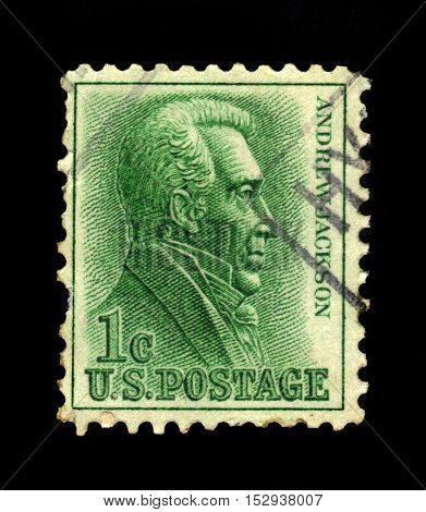 USA - CIRCA 1963: a stamp printed in United States of America shows Andrew Jackson, seventh President of the United States, circa 1963