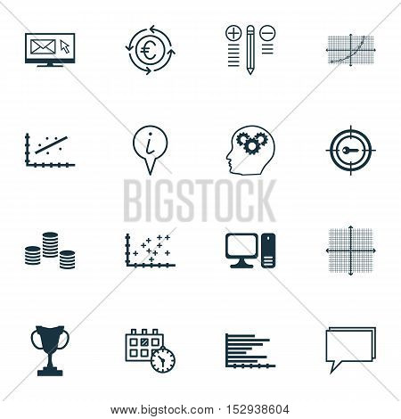 Set Of 16 Universal Editable Icons For Hr, Transportation And Statistics Topics. Includes Icons Such