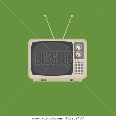 Flat Design of a retro vintage television