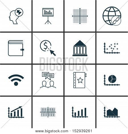 Set Of 16 Universal Editable Icons For Computer Hardware, School And Business Management Topics. Inc