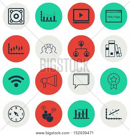 Set Of 16 Universal Editable Icons For Project Management, Management And Airport Topics. Includes I