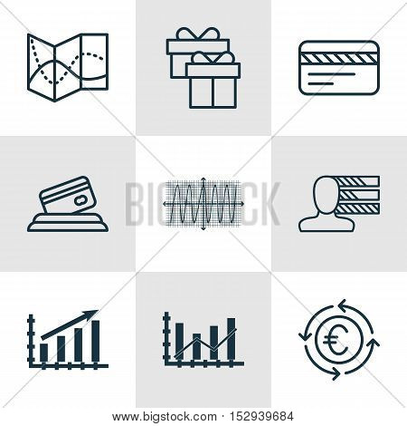 Set Of 9 Universal Editable Icons For Project Management, Traveling And Transportation Topics. Inclu