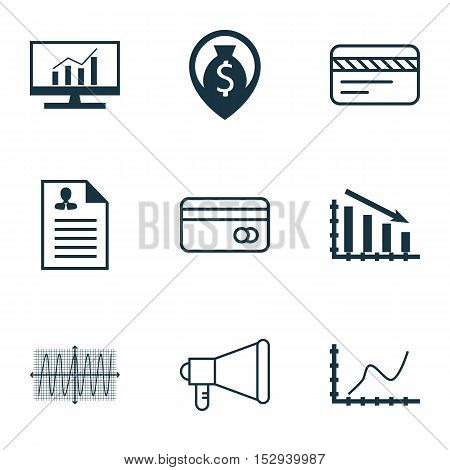 Set Of 9 Universal Editable Icons For Seo, Statistics And Project Management Topics. Includes Icons