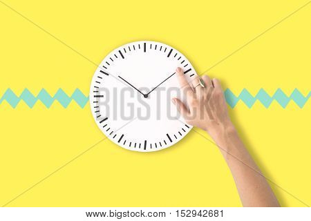 Clock Time Second Minute Hour Punctual Circle Concept
