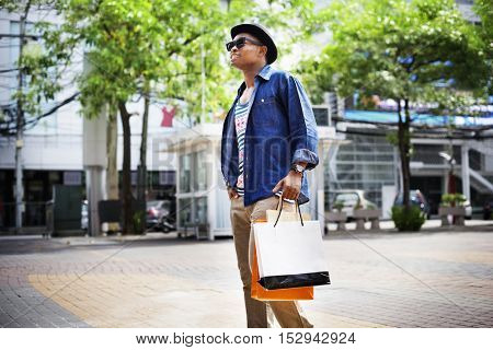 Man Shopping Spending Customer Consumerism Concept