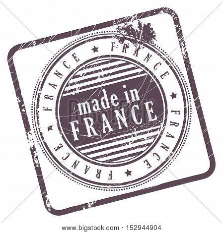 Grunge rubber stamp made in France, vector illustration